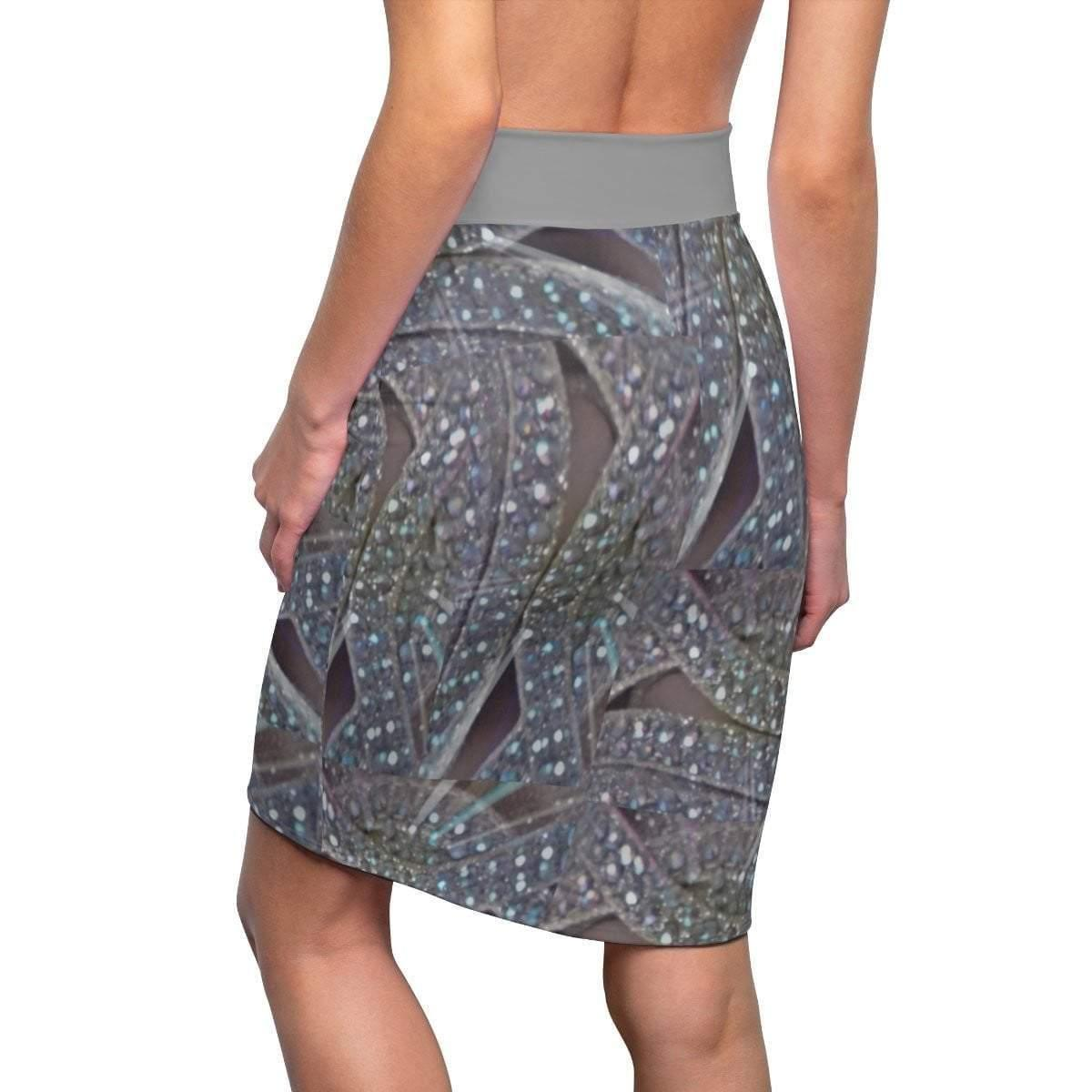 Geometric Women's Pencil Skirt Voluptuous (+) Size Available - Tie-Fly