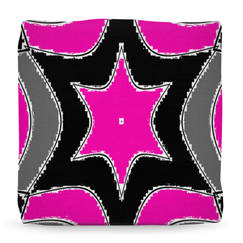 Pink Star Home Ottomans - Tie-Fly