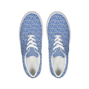 Petty Repeat - Blue Lace Up Canvas Shoe