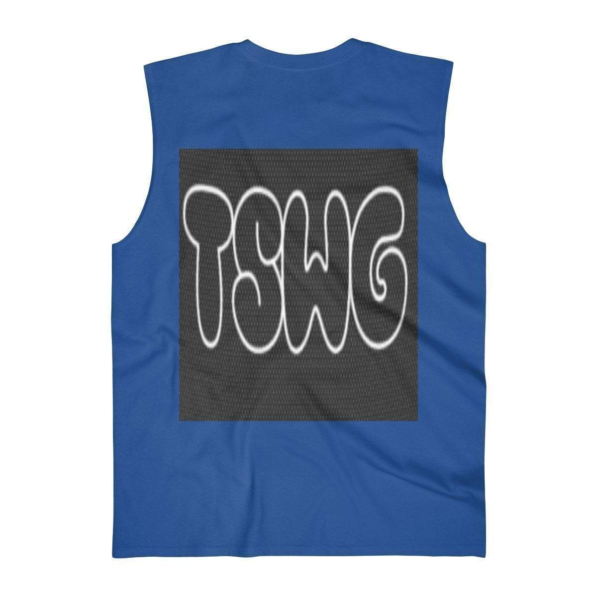 Back Printed TSWG (Tough Smooth Well Groomed) Men's Ultra Cotton Sleeveless Tank Voluptuous (+) Size Available - TFC&H Co.