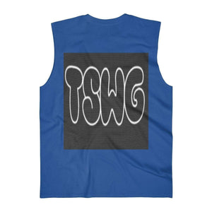 Back Printed TSWG (Tough Smooth Well Groomed) Men's Ultra Cotton Sleeveless Tank Voluptuous (+) Size Available - Tie-Fly