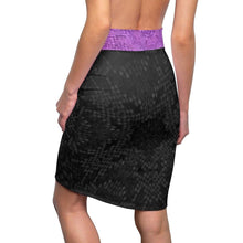 Load image into Gallery viewer, Royal Snakeskin Pencil Skirt Voluptuous (+) SIze Available, All Over Prints -tie - fly