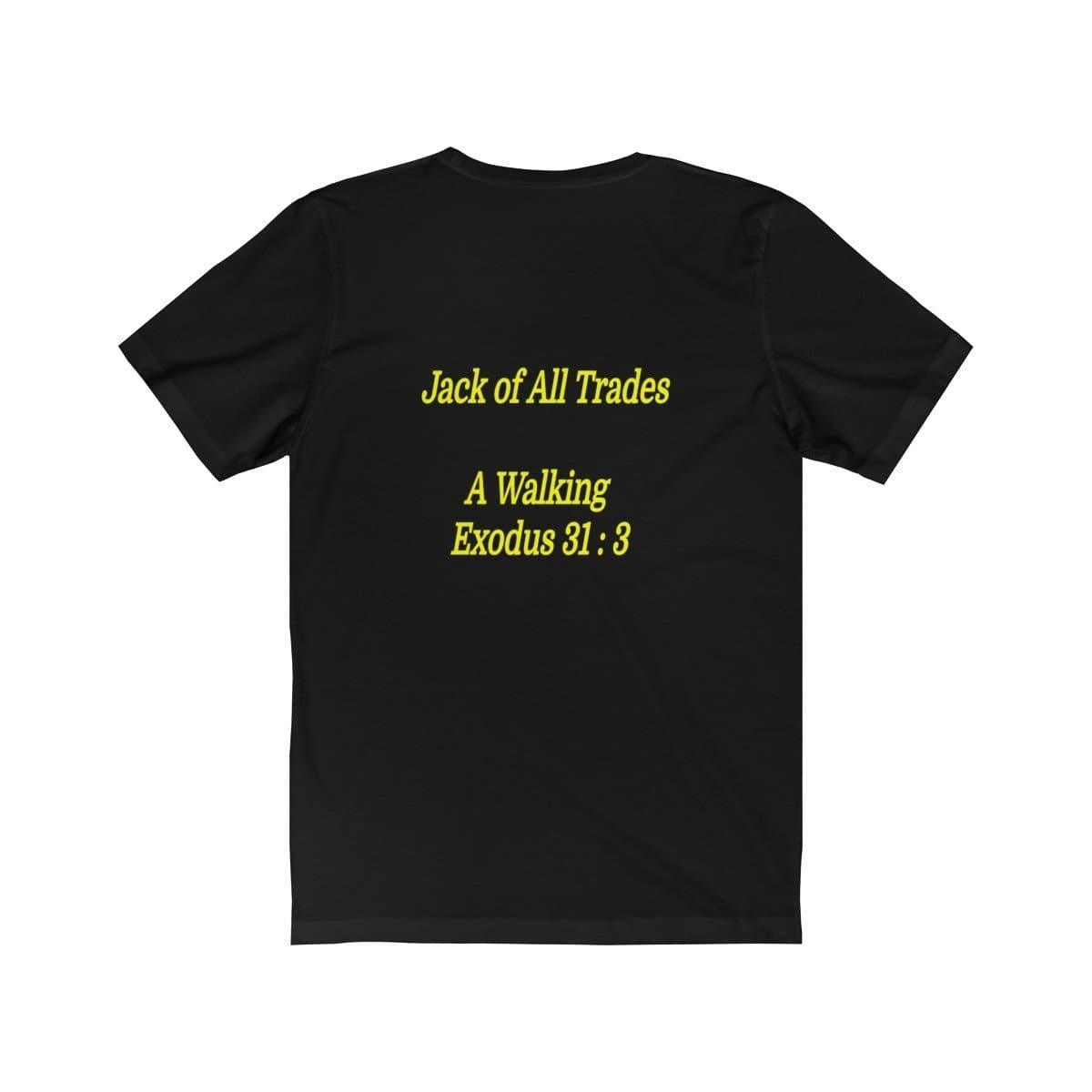 Jack of All Trades A Walking Exodus 31:3  Unisex Jersey Short Sleeve Tee Voluptuous (+) Size Available - Tie-Fly