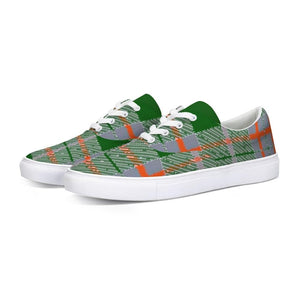 Tribute to Plaid Lace Up Canvas Shoe, shoes -tie - fly