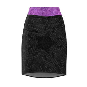 Royal Snakeskin Pencil Skirt Voluptuous (+) SIze Available, All Over Prints -tie - fly