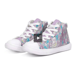 Load image into Gallery viewer, Teacher's Pet: Royal Pallette Kids Hightop Canvas Shoe - Tie-Fly