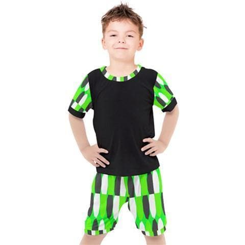 Royal Geo 3 Boys Tee & Short Set - Tie-Fly