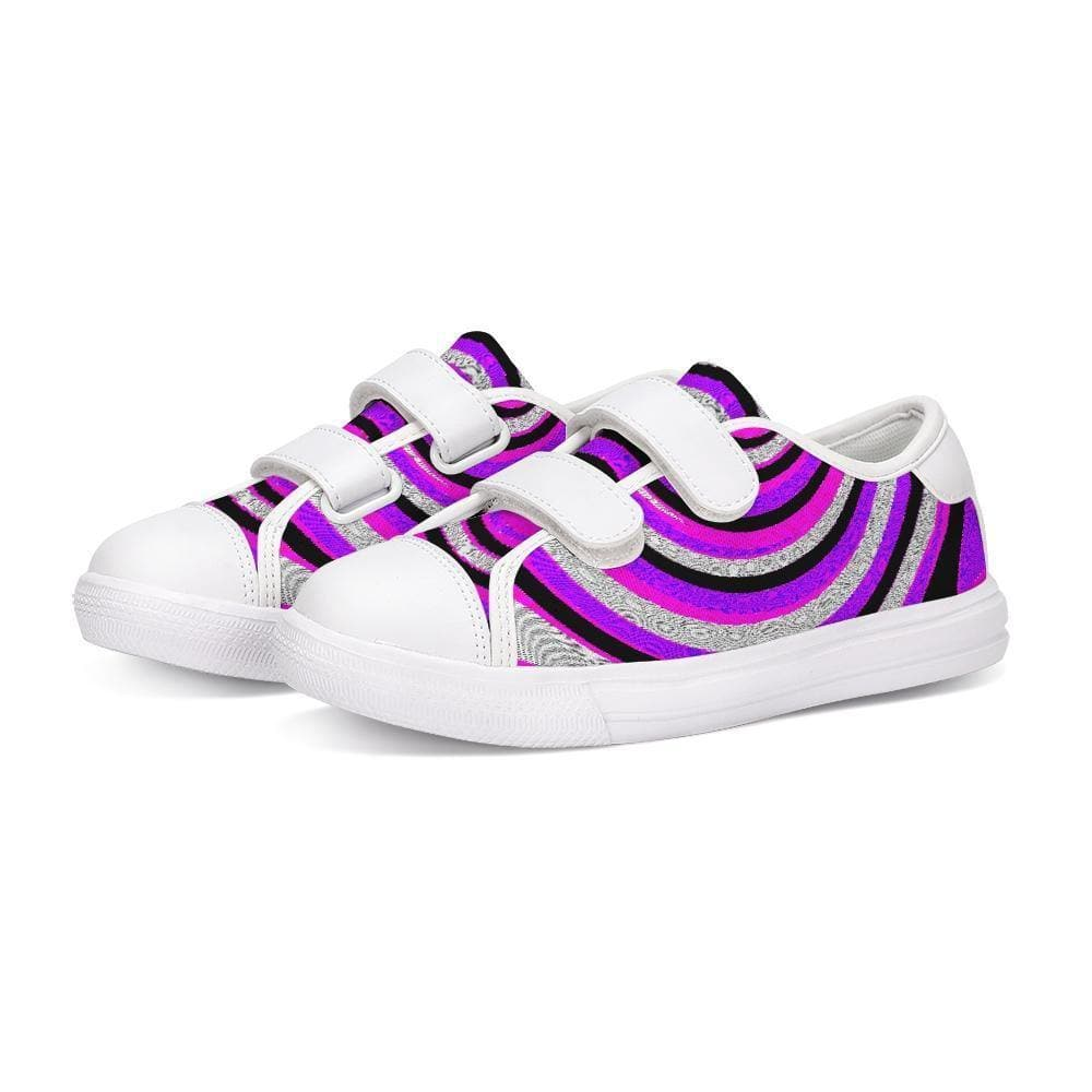 Teacher's Pet Royal Swirl  Kids Velcro Sneaker - Tie-Fly
