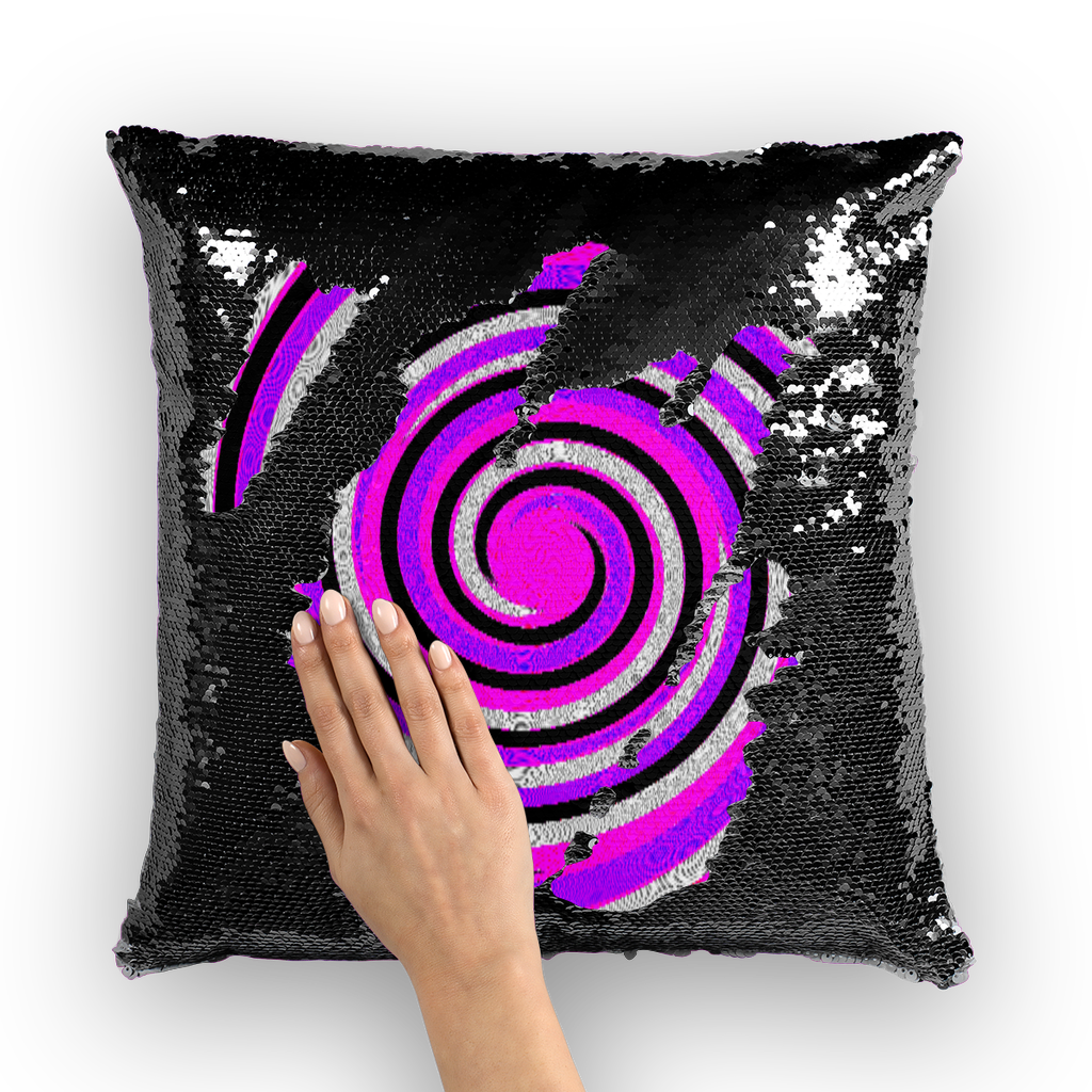 Royal Swirl Home Sequin Cushion Cover  Insert Available - Tie-Fly