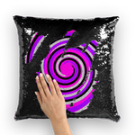 Royal Swirl Sequin Cushion Cover