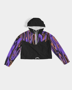 Trip  Women's Cropped Windbreaker - Tie-Fly