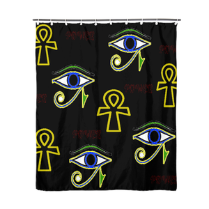 "Power Home Shower Curtain 72""x72"" - Tie-Fly"