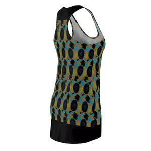 Abstract 2 Women's Cut & Sew Racerback Dress Voluptuous (+) Size Available - Tie-Fly