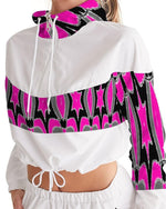 Load image into Gallery viewer, Pink Star  Women's Cropped Windbreaker - Tie-Fly