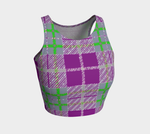 Load image into Gallery viewer, Tribute to Plaid Crop Top - Purple - Tie-Fly