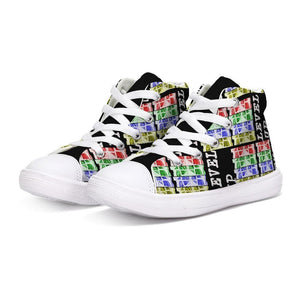 Teacher's Pet: Level Up Kids Hightop Canvas Shoe, shoes -tie - fly