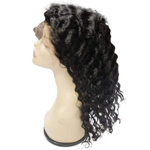 Deep Wave Front Lace Wig 100% Human Hair - Tie-Fly