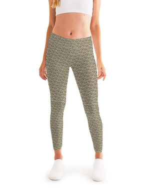 Petty Repeat - Brown  Women's Yoga Pant - Tie-Fly