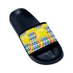 Load image into Gallery viewer, Level Up Kids Kid's Black Slides - Tie-Fly