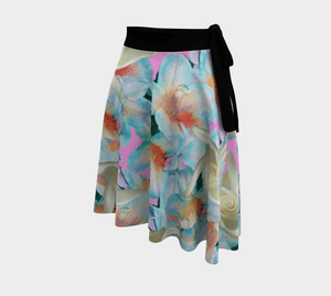 Midnight Floral Wrap Skirt - Tie-Fly
