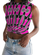 Load image into Gallery viewer, Pink Star  Women's Twist-Front Tank - Tie-Fly