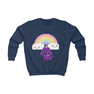 Bec's Uni-Dog Kids Sweatshirt - Tie-Fly