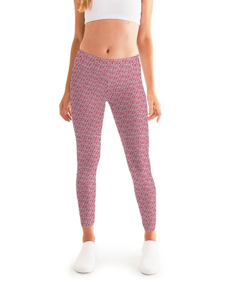 Petty Repeat - Red  Women's Yoga Pant - Tie-Fly
