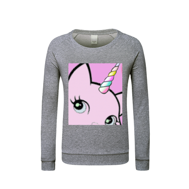 Bec & Friends Uni- Cat  Kids Graphic Sweatshirt