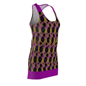 Abstract 3 Women's Cut & Sew Racerback Dress Voluptuous (+) Size Available - Tie-Fly
