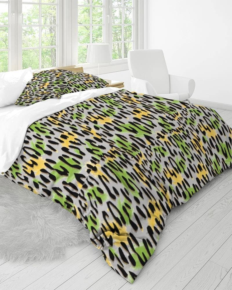 Leopard Splash Home King Duvet Cover Set - Tie-Fly