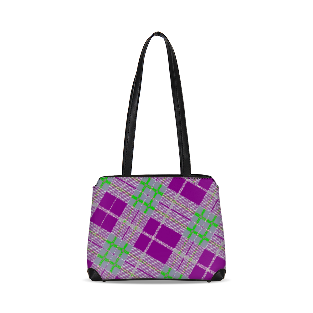 Tribute to Plaid Shoulder Bag - Tie-Fly