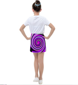 Royal Swirl Girl's Tennis Skirt - Tie-Fly