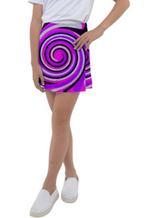 Load image into Gallery viewer, Royal Swirl Girl's Tennis Skirt - Tie-Fly