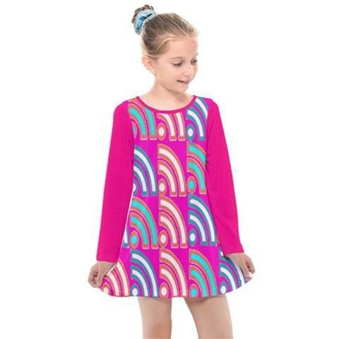 Langis Kids Girl's Long Sleeve Dress - Tie-Fly