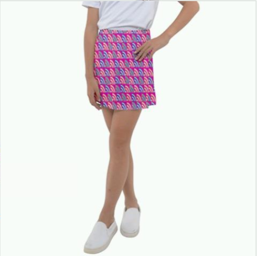 Langis Kids Girl's Tennis Skirt - Tie-Fly