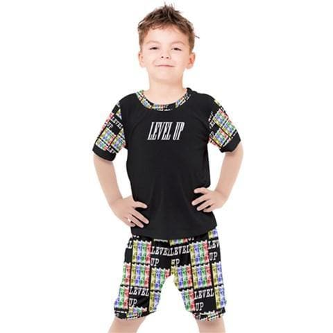 Level Up Kids Boy's Tee & Short Set - Tie-Fly