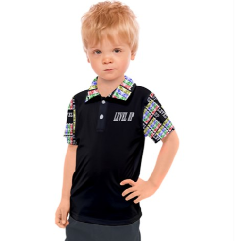 Level Up Kid's Polo - Tie-Fly