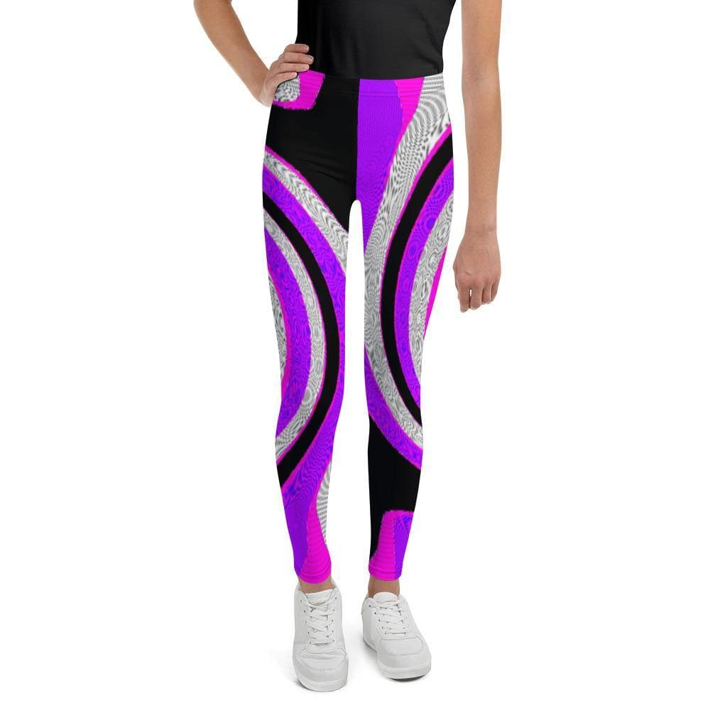 Teacher's Pet Royal Swirl Youth Leggings - Tie-Fly