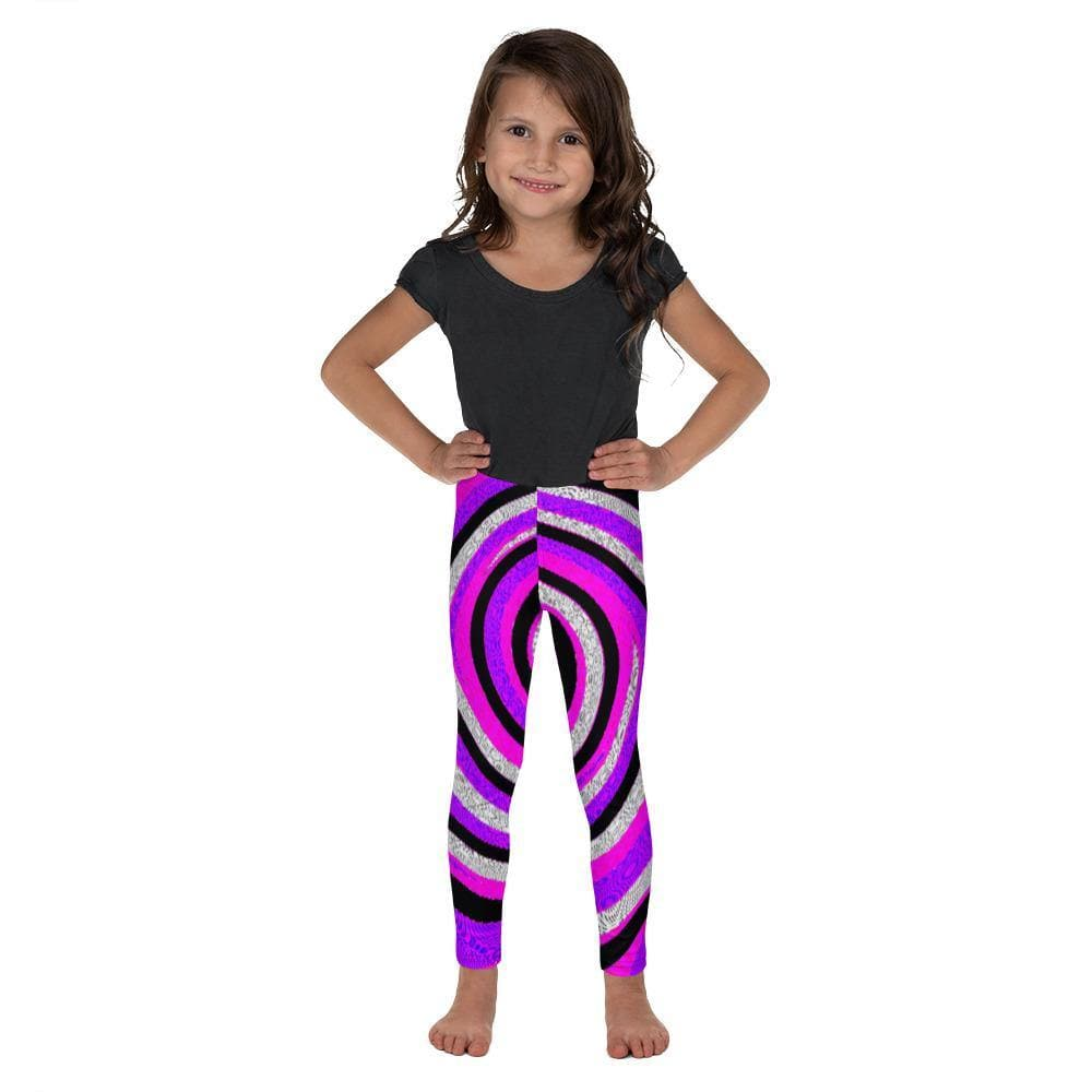 Teacher's Pet Royal Swirl Kid's Leggings - Tie-Fly