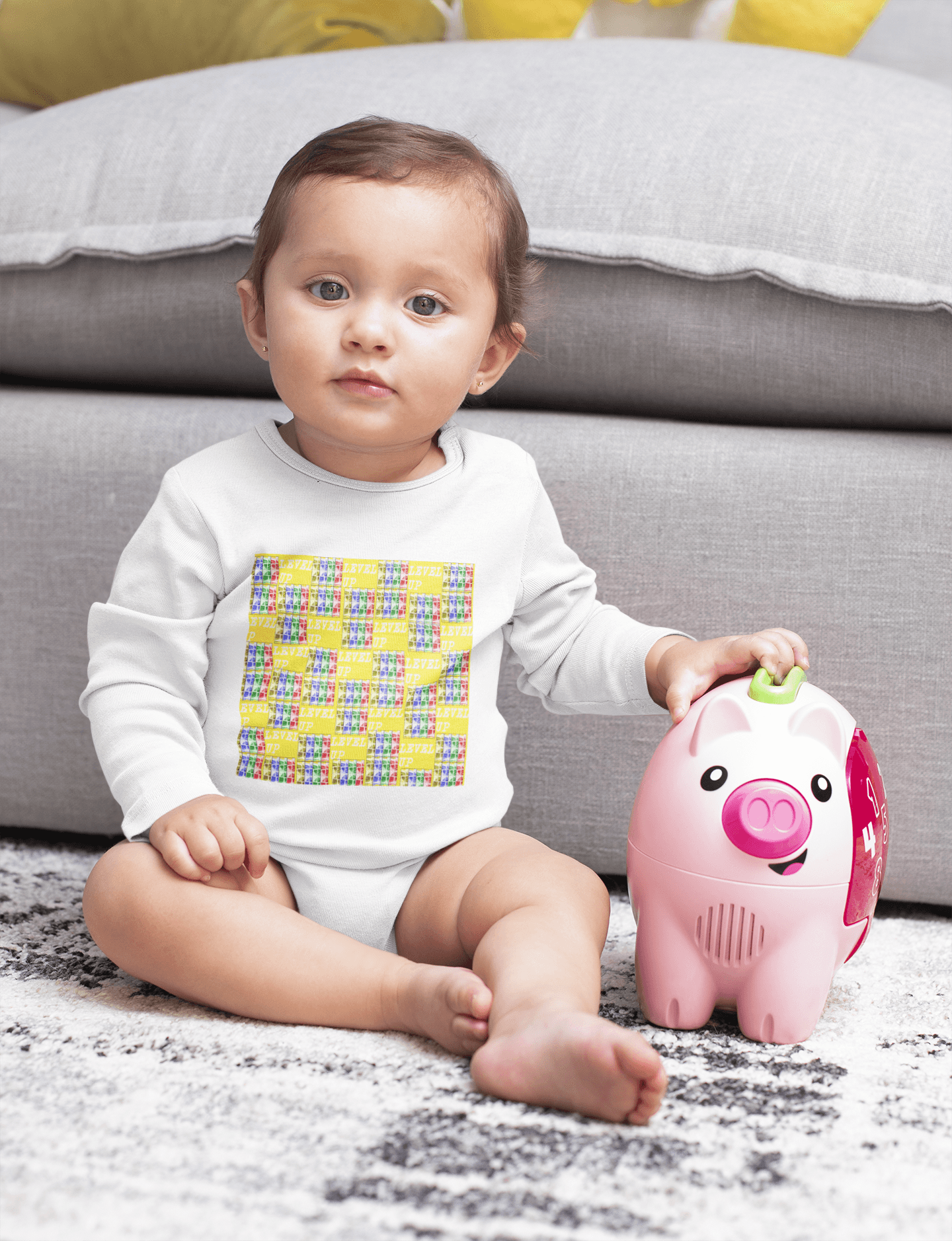 Teacher's Pet: Level Up Babes Infant Long Sleeve Bodysuit