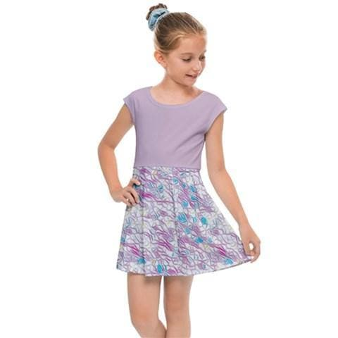 Royal Pallette Girl's Cap Sleeve Dress - Tie-Fly