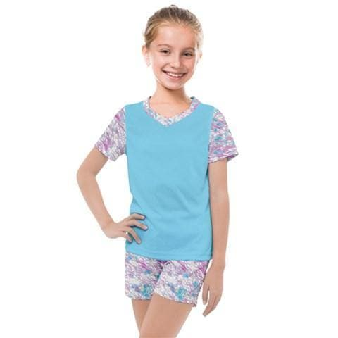 Royal Pallette Girls Mesh Tee & Short Set - Tie-Fly
