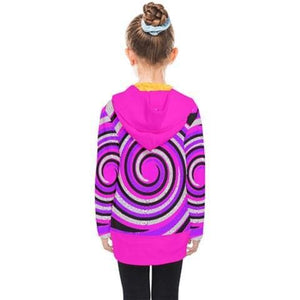 Royal Swirl Kid's Double Breasted Button Coat - Tie-Fly