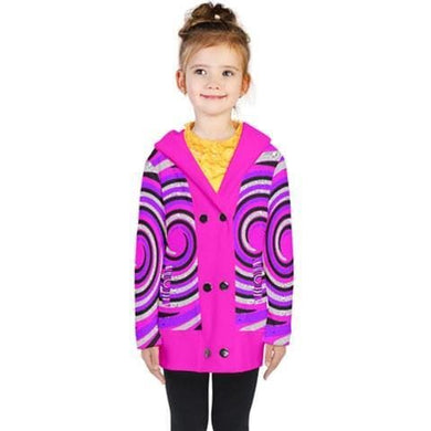 Royal Swirl Kid's Double Breasted Button Coat