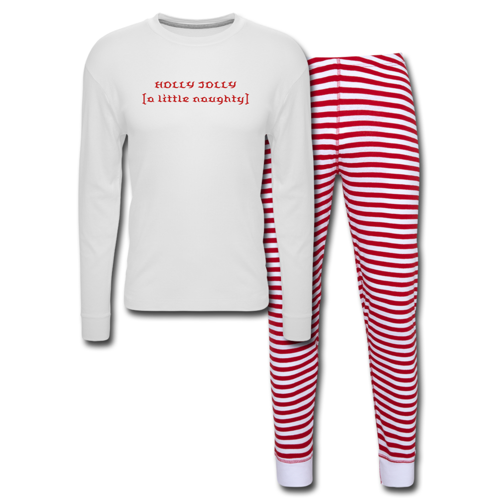 Holly Jolly Adult Unisex Pajama Set - Tie-Fly