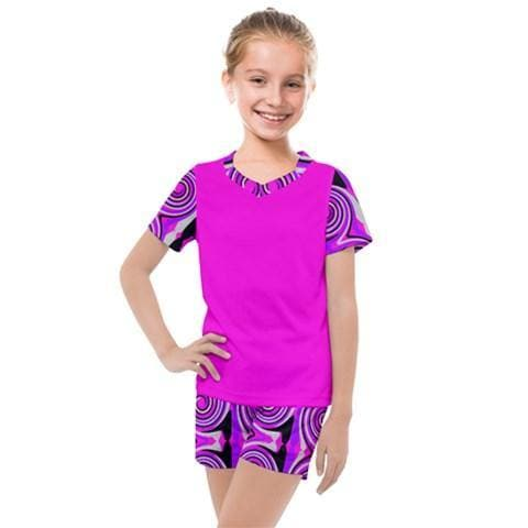 Royal Swirl Girls' Mesh Tee & Short Set - Tie-Fly