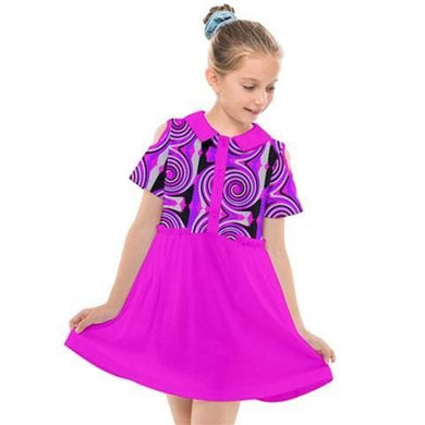 Royal Swirl Girl's Cut Out Shirt Dress
