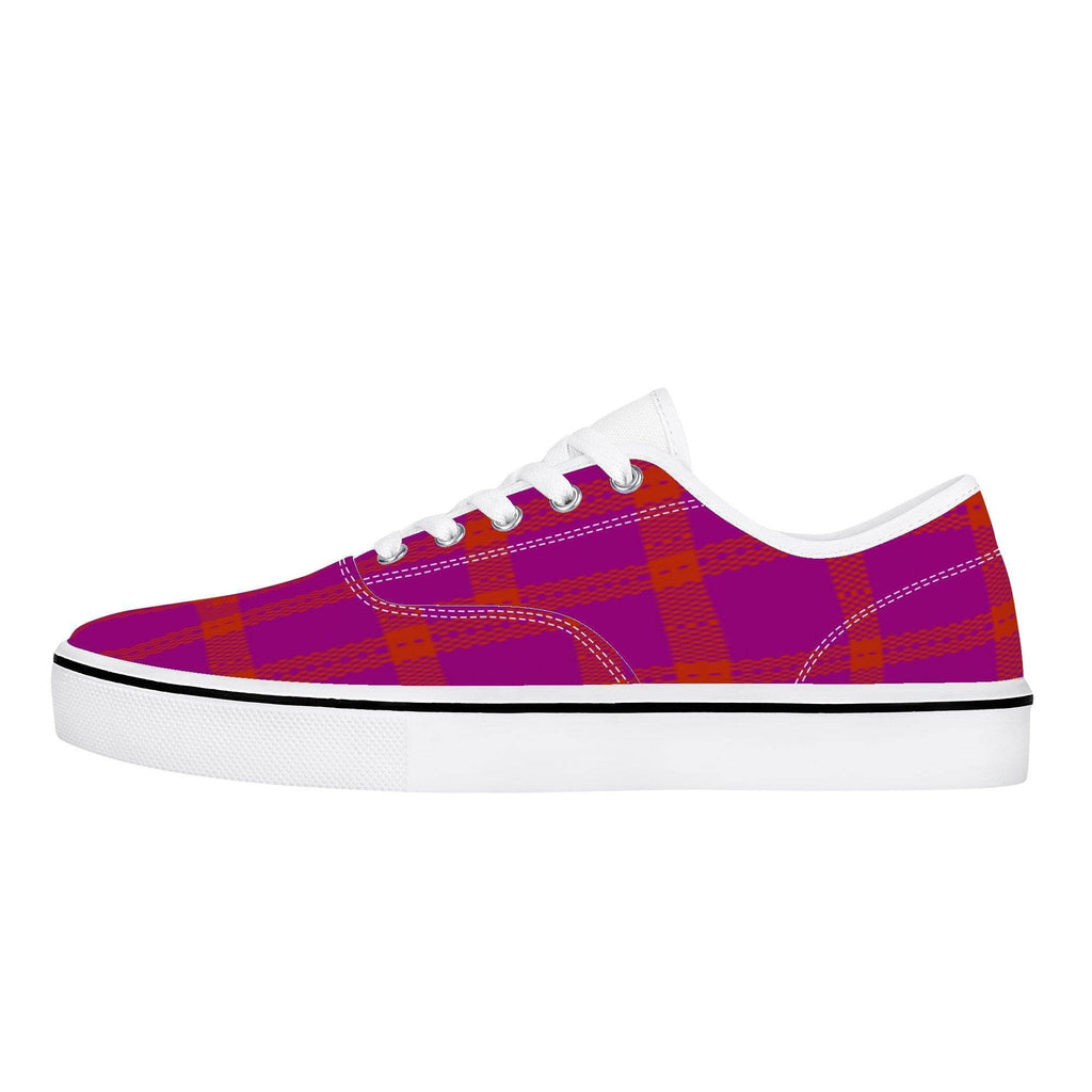 Perfusion Plaid Skate Shoe - White - Tie-Fly