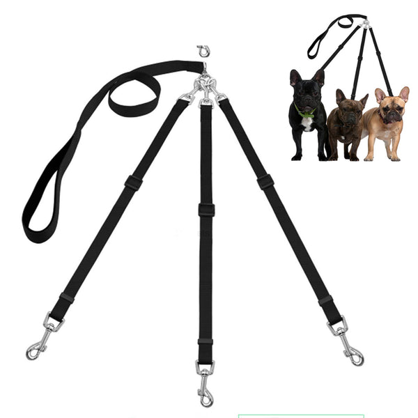 Adjustable Multi Pets Leash w/Quick Release