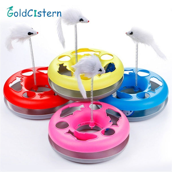 Turntable Toy with bird on spring